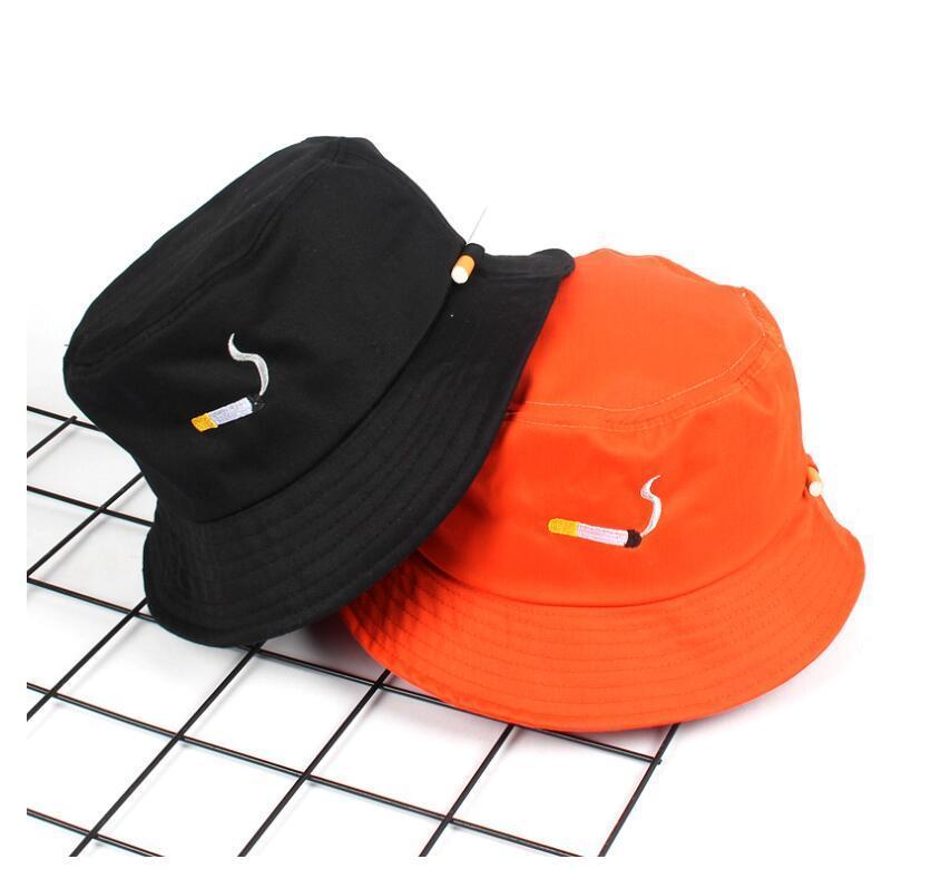 КЛОЧЕСАМИ NO CHILL CIGARETTER Вышивка Ковш Шляпа для мужчин Женщины Хип-хоп Рыбак Взрослый Панама Боб Летние Любители квартиры