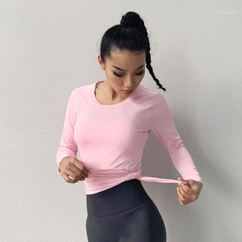 Camisa Top Manga larga Correr Mujeres Ejercicio Camisa de yoga Quick Dry Full Blanco Fits Fit Tamaño, toma tu cuello redondo normal1