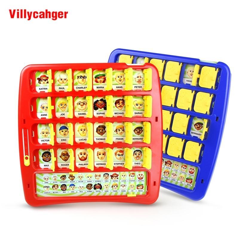 Quem é Jogar Jogo Treinamento de Memória Família Pai-Criança Interactiva Adivinhação Educacional Bebê Presente de Aniversário Desktop Game Y200428
