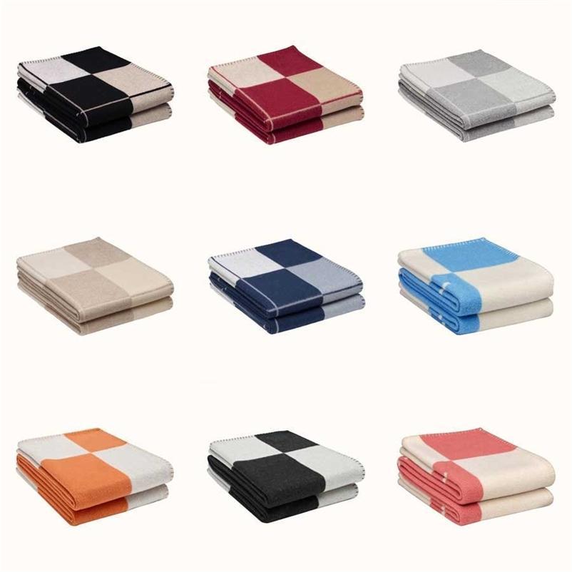 1 stücke luxus h kasmere decke super weiche wolle schal schal tragbare tragbare warme karierende sofa bett schlafleute stricken wirft decke 201222