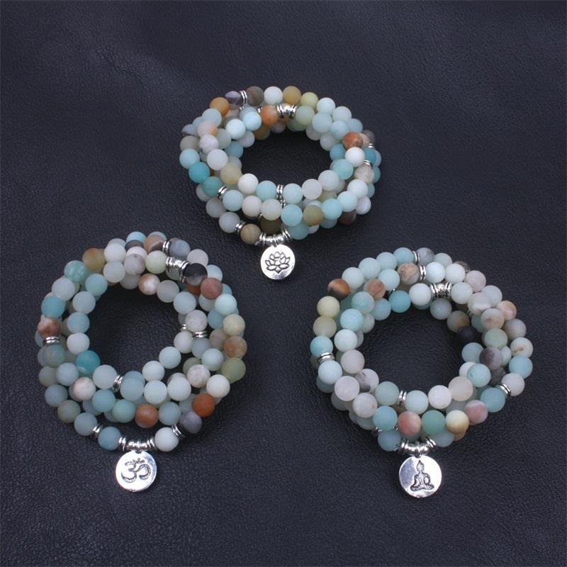 Bracelet en pierre naturelle Mode Lotus Buddha Statue Charm Bijoux Couleur Femmes Chaîne Man Chalet Perles Yoga 12ye K2B