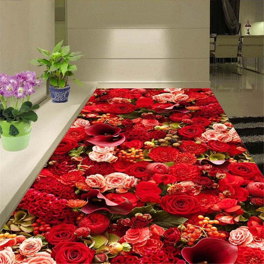 Piano personalizzato painting 3D Romantic Sea Rose tendenza di moda Soggiorno Camera da letto 3D laminate Pareti Papers Home Decor Papel De Parede F3hL #