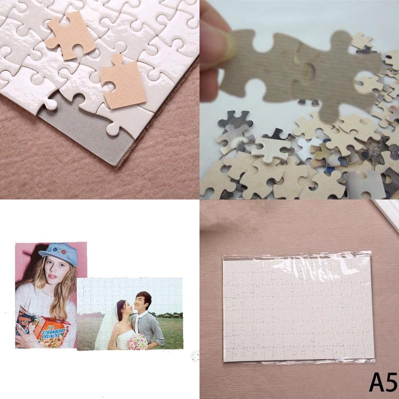 DIY SUBLIMATION BLANC JISSAW TRANSFERT DIY BLANC PUZZZ PUZZE A4 Multi-standard Toys en bois pour enfants Logo Papier de personnalisation 165 K2