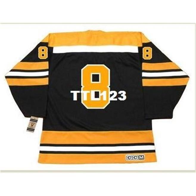 888s # 8 Ken Hodge Boston Bruins 1970 ccm Vintage Retro Away hockey jersey o personalizzato Qualsiasi nome o numero retrò jersey