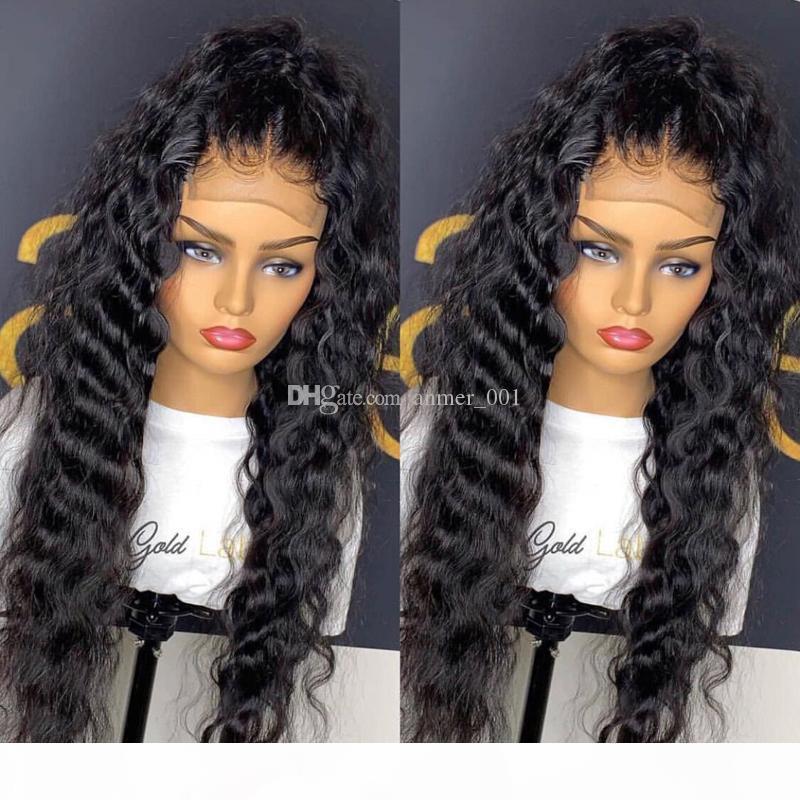 Parrucca piena del merletto con il bambino corpo capelli dell'onda Glueless brasiliana dei capelli umani parrucche per le donne nere Pre pizzico 130% Remy Parrucche