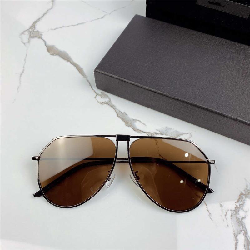 Lusso- 2248 moda femminile occhiali da sole rotondi cornice retrò telaio colore rivestito di colore avant-garde stile popolare stile UV400 con scatola di alta qualità