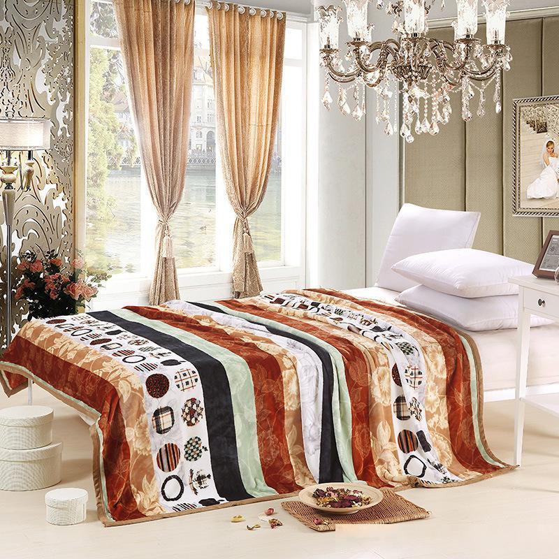 Stripe Bettwäsche Decken Soft-Flanell für Kindererwachsene Bedspread Bettlaken Decke dünn Quilt Bettwäsche