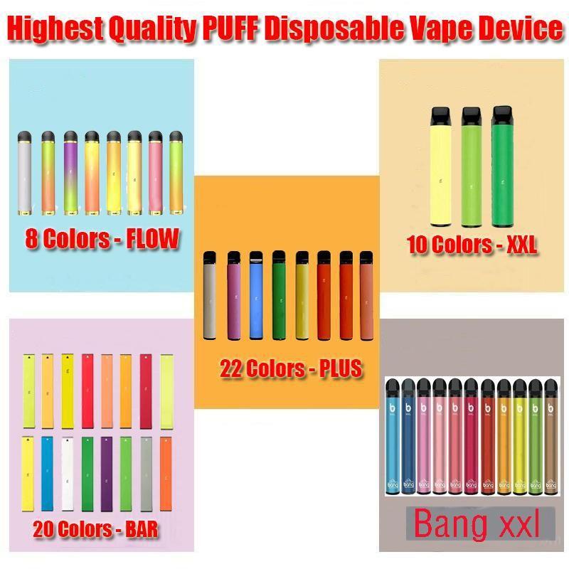 Puff Plus Bang XXL XTRA Disposable Vape Pen Pod Puff XXL Bar 800 1500 Puffs Electronic Cigarette Empty Kit via Hype Max Kangvape