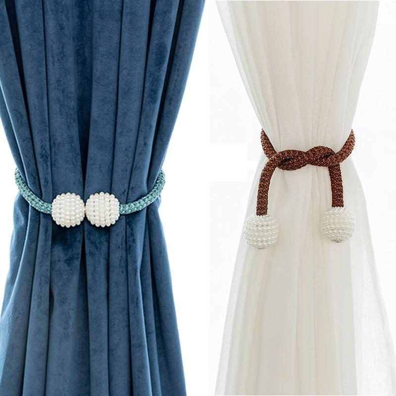 Magnetischer Vorhang Pole Hohe Qualität Halter Haken Schnalle Clip Rindsback Polyester Dekorative Home Accessorie