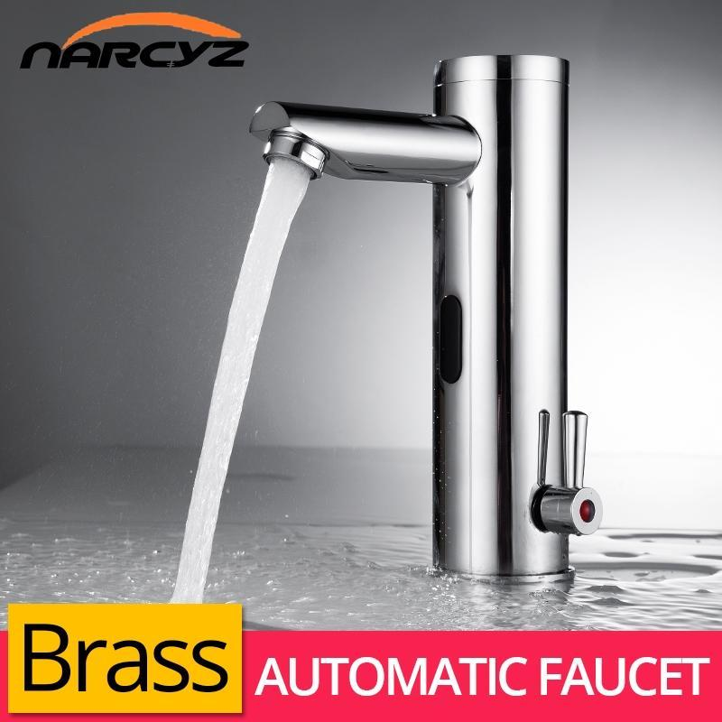 Basin Faucet Sensor Bathroom Automatic Hands Touch Free Water Saving Inductive Electric Water Tap Battery Power Faucets XR8804