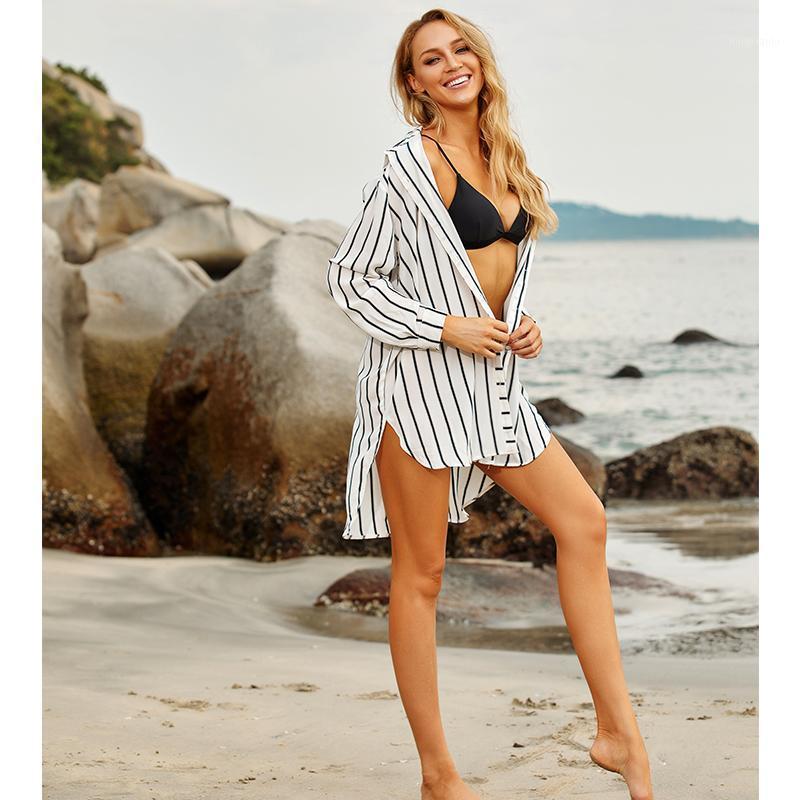 Sexy Bikini Cover-Ups Хлопковая туника Бохо напечатанные Летние Пляжные Топы Элегантные Женщины Плюс Размер Пляж Носить Купюрный костюм Покрытие Q11061