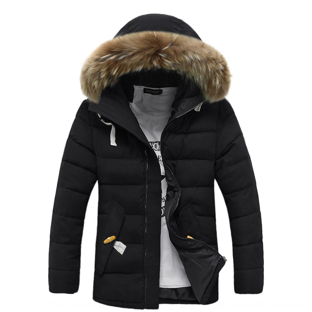 9rp0 осенняя длинная куртка женщины меховой воротник вниз пальто зимние куртки стеганые мягкие дамы зима в теплые парки женские туалеты D25