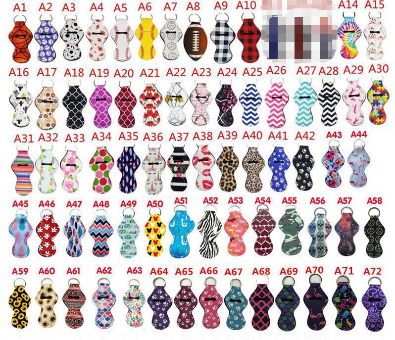 209 Farben Muster Druck Chapstick Halter Keychain Girl Chapstick Lippenstift Keychain Für Party Favors Valentines Geschenk