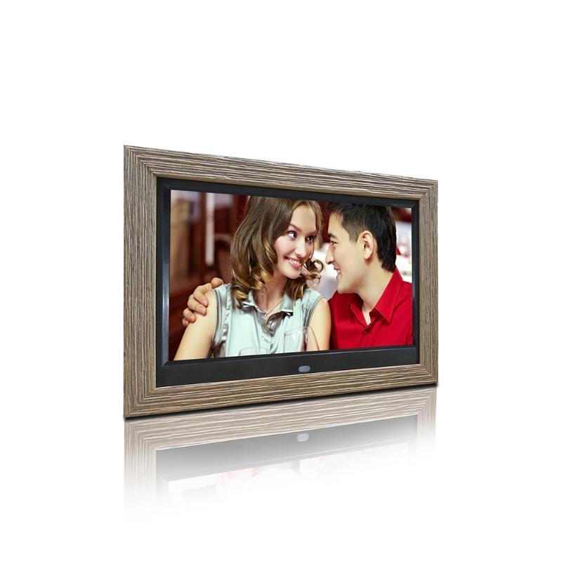 10 بوصة إطار خشبي الإعلان الصور الرقمية الإطار الصور الرقمية الصورة التشغيل التلقائي دعم الفيديو 1080P