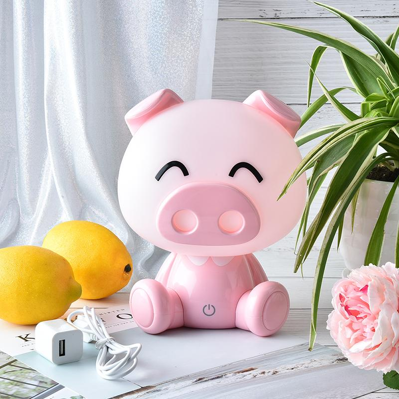 Tocco Pig illumina di Cute Baby Camera di notte della lampada LED Night Light lampada da comodino Decor bambini escursioni luce del regalo di San Valentino giorno di Natale C1007