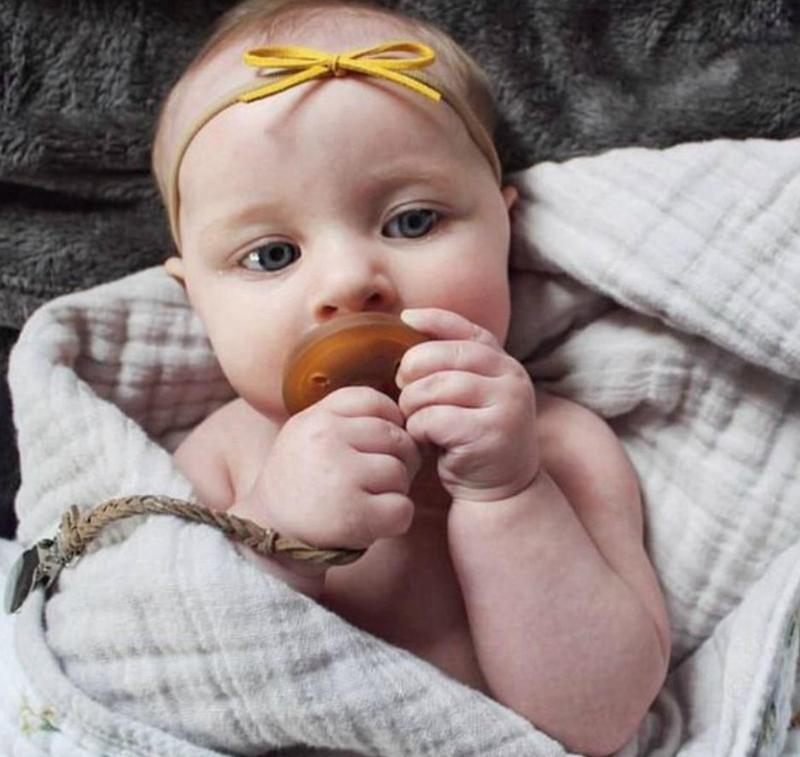طفل هوة المهديء سلسلة جلدية هوة سلسلة الدمية مزين كليب هوة حامل مكافحة الإفلات من تغذية الطفل أداة 7 ألوان BT6013