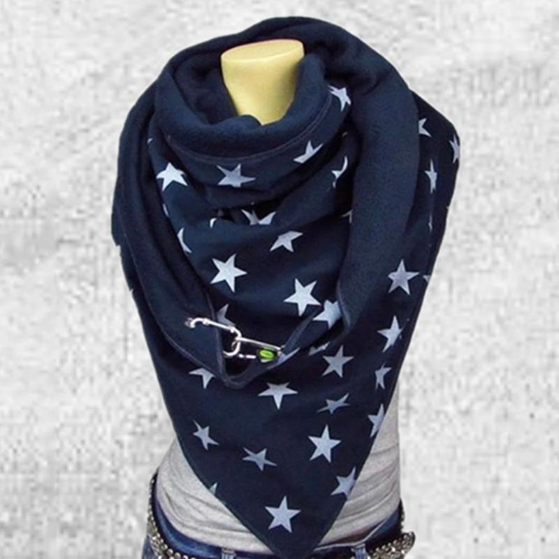 Botón de lujo-invierno de la bufanda de las mujeres Hombre Foulard Femme de punto para hombre del calentador del cuello bufanda del hijab Wraps