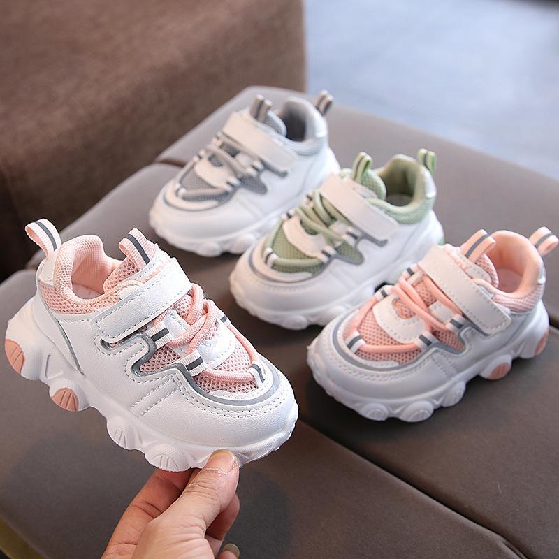 2020 Automne Bébé Filles Garçons Chaussures Casual souples Bas antidérapants respirante extérieur Chaussures enfant infantile Enfants Baskets Enfant 1006