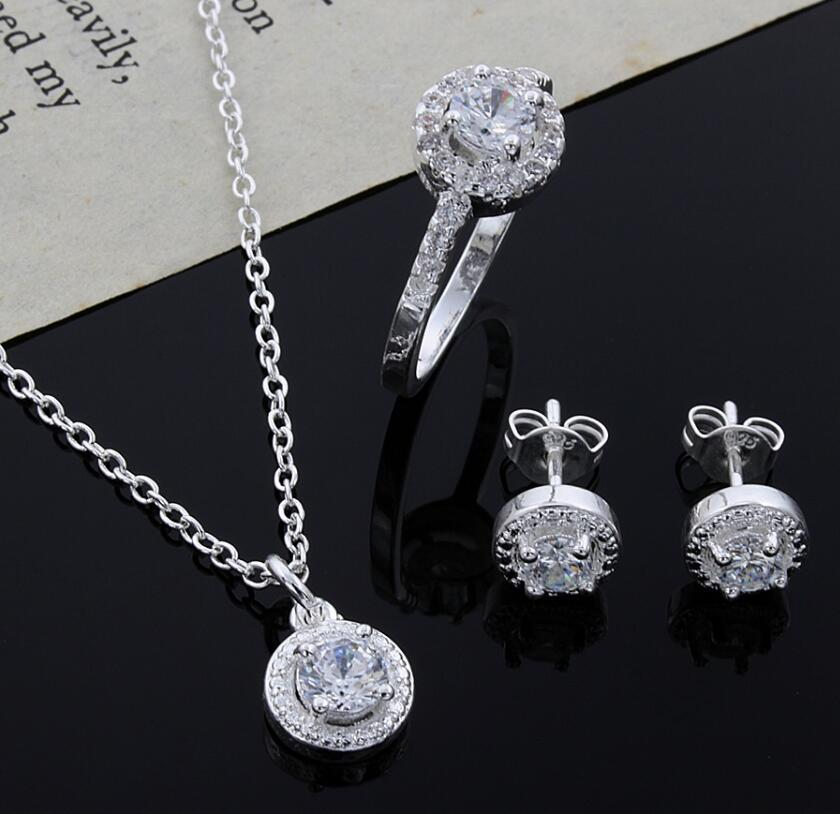 Серьги набор мода ювелирные изделия свадебный подарок дизайн 925 стерлингового серебра для женщины бесплатная доставка PS1331