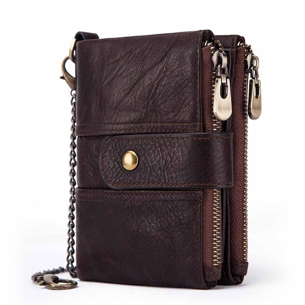 2020 Краткая старинная кошелечная кошелек для кошелька маленький мужчина Mini двойной кошелек