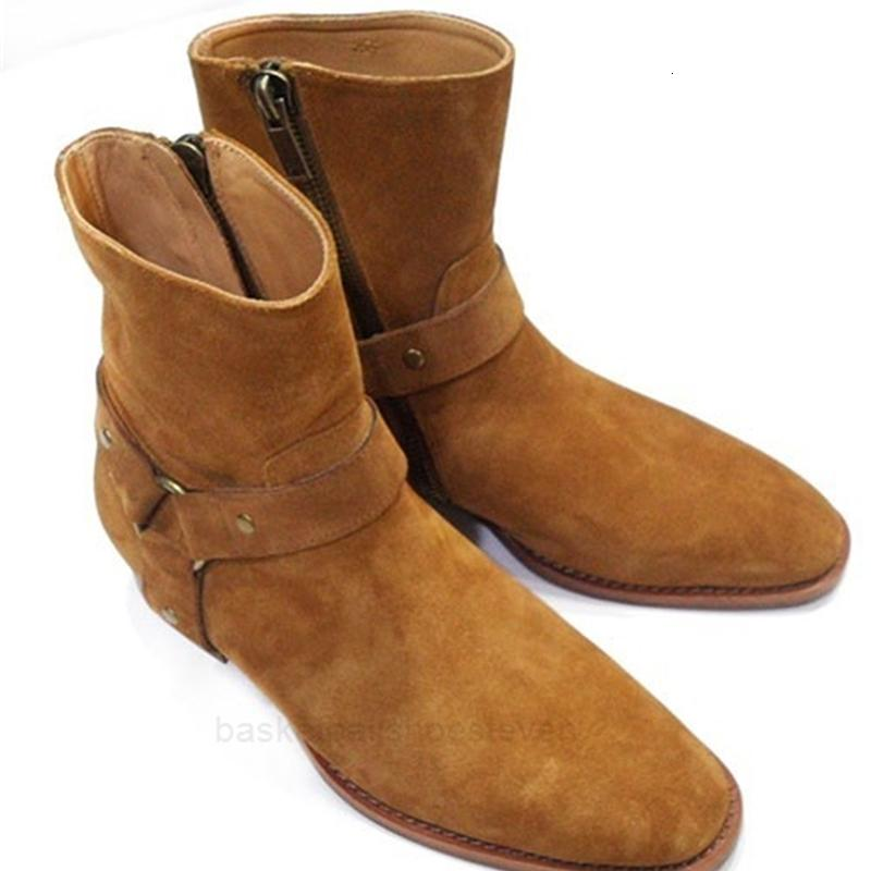 Vente-mode chaud wyatt motard chaîne bottines bottines hommes chaussures pointues orte boucle hommes bottes cuir homme robe chaussures botas militares chaussures hommes