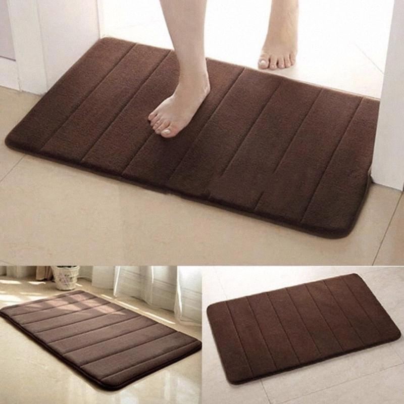 Startseite Praktische Anti Slip Mat Teppich Badezimmer Nicht Slipping Mats Memory Foam Teppich Dusche Teppich Pad für Badezimmer-Küche d0th #