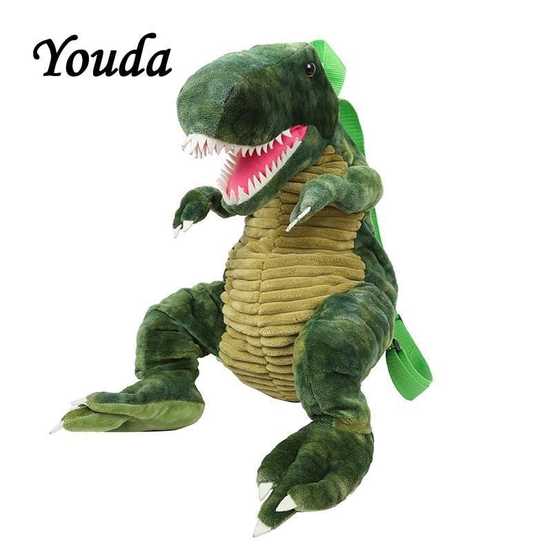 Youda 원래 플러시 인형 가방 만화 schoolbag 유치원 소년 가방 소녀 공룡 모양 배낭 귀여운 어린이 배낭 C1221