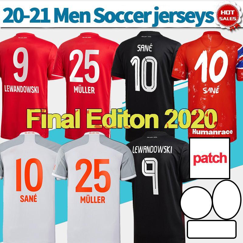 Final Lizbon 2020 Münih Futbol Forması # 9 Lewandowski # 29 KOMAN 23 Ağustos Futbol Gömlek 20/21 Özelleştirilmiş Futbol Üniformaları