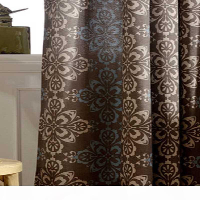Yemek Odası Yatak Basit Çince Perdeler Polyester Pamuk Kumaş Baskı Beyaz Tül Living Modern Perdeler