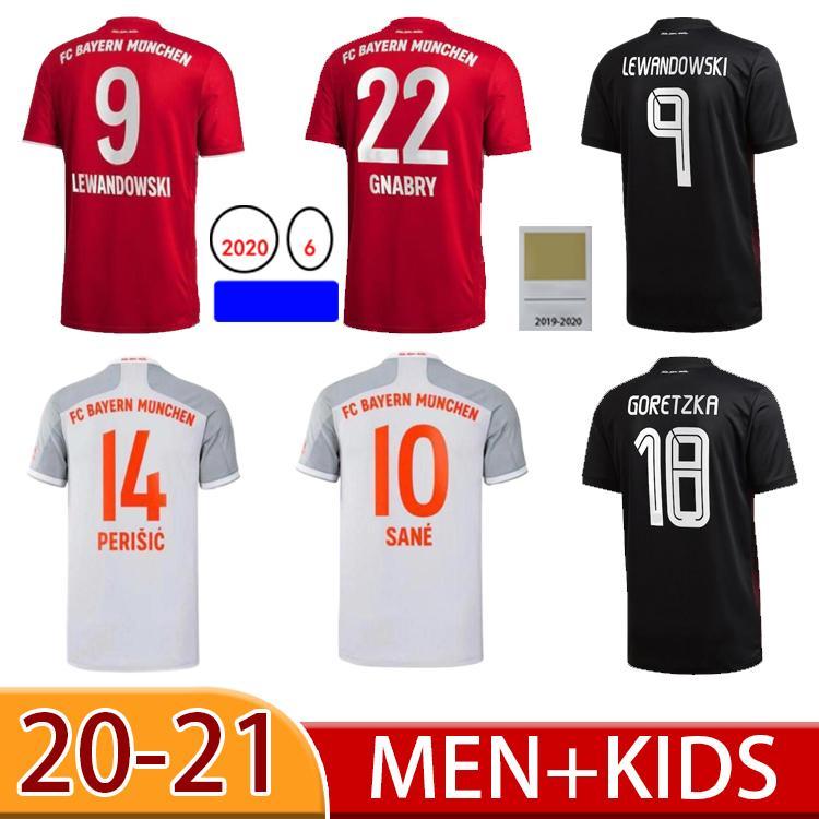 2021 SANE Lewandowski Tolisso Soccer Jersey 20 21 Kimmich Coman Gnabry Alaba Davies Muller Jersey Camisa de Fútbol Hombres niños Sets Uniforme