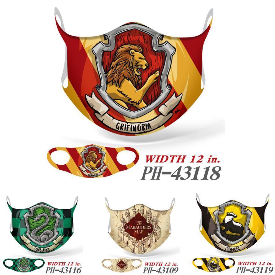 máscara Designer Harry Potter Film and Television Impressão Peripheral máscara para adultos Full Color Silk Ice Hanging Máscara Orelha