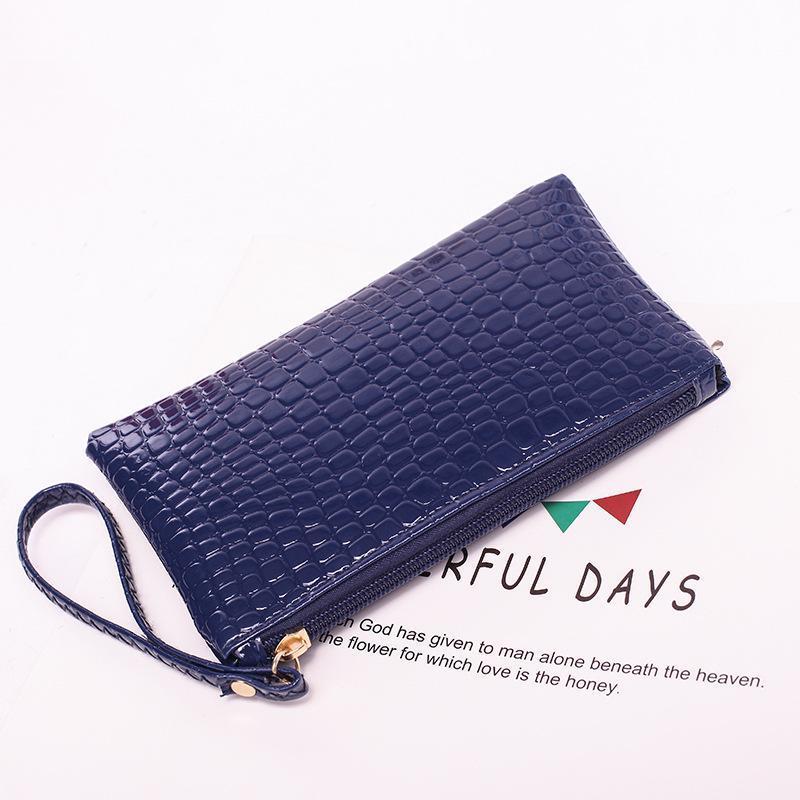 Небольшой кошелек женская сумка 2020 муфты крокодиловой узор версия сумка мобильный кожаный телефон Новый кошелек дамы корейский TKBKI