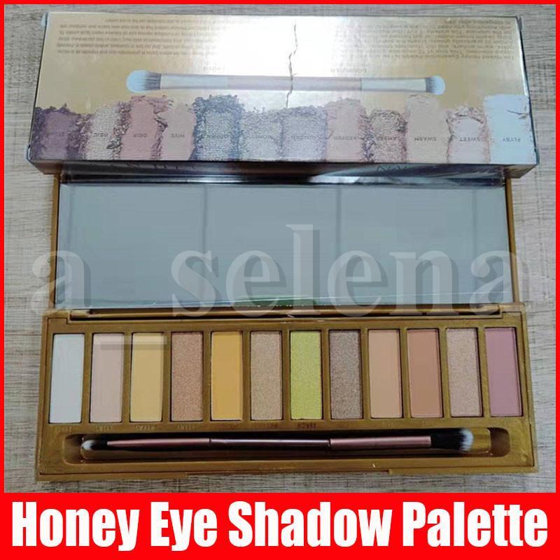 ماكياج عين جديدة العسل عينيه لوحات الألوان 12 ماتي الطبيعي للماء طويل ظلال العيون دائمة مع فرشاة