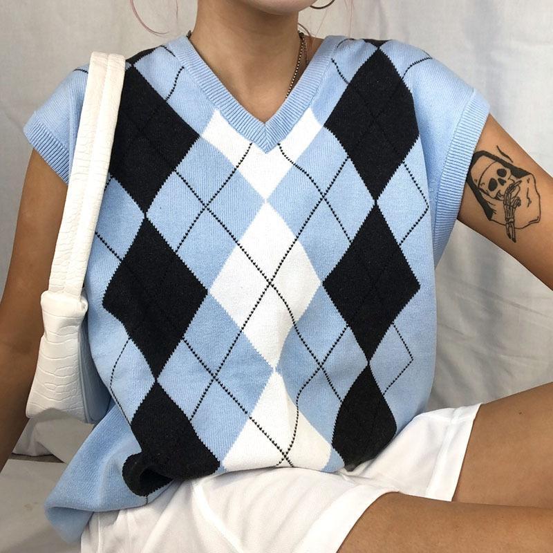 2021 Zubehör Mode Y2K Cardigan Tank Top Frauen T-shirt Cropped Bustier Kleidung Cottagecore Toppies Herbstpullover Weste ziehen