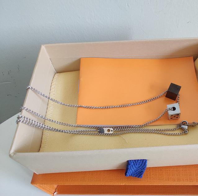 Collana in acciaio inox di alta qualità Nuova collana cubo cubo per collana coppia gioielli personalizzati gioielli tendenza di moda