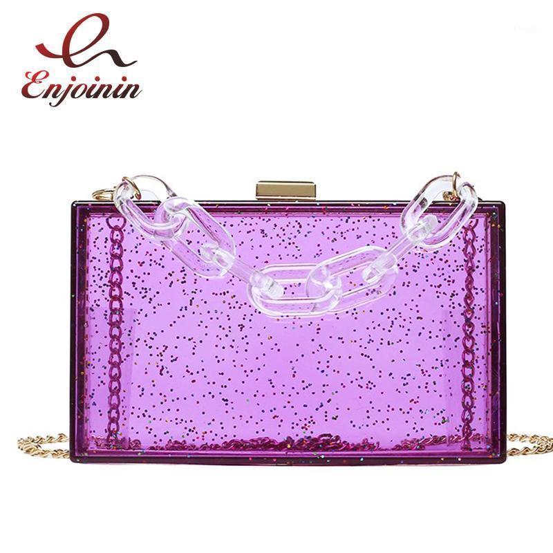 Прозрачная блестящая акриловая коробка мода женские сцепления мешок кошельков и сумки сумки для цепчики плеча вечером для девушки Tote Bags1