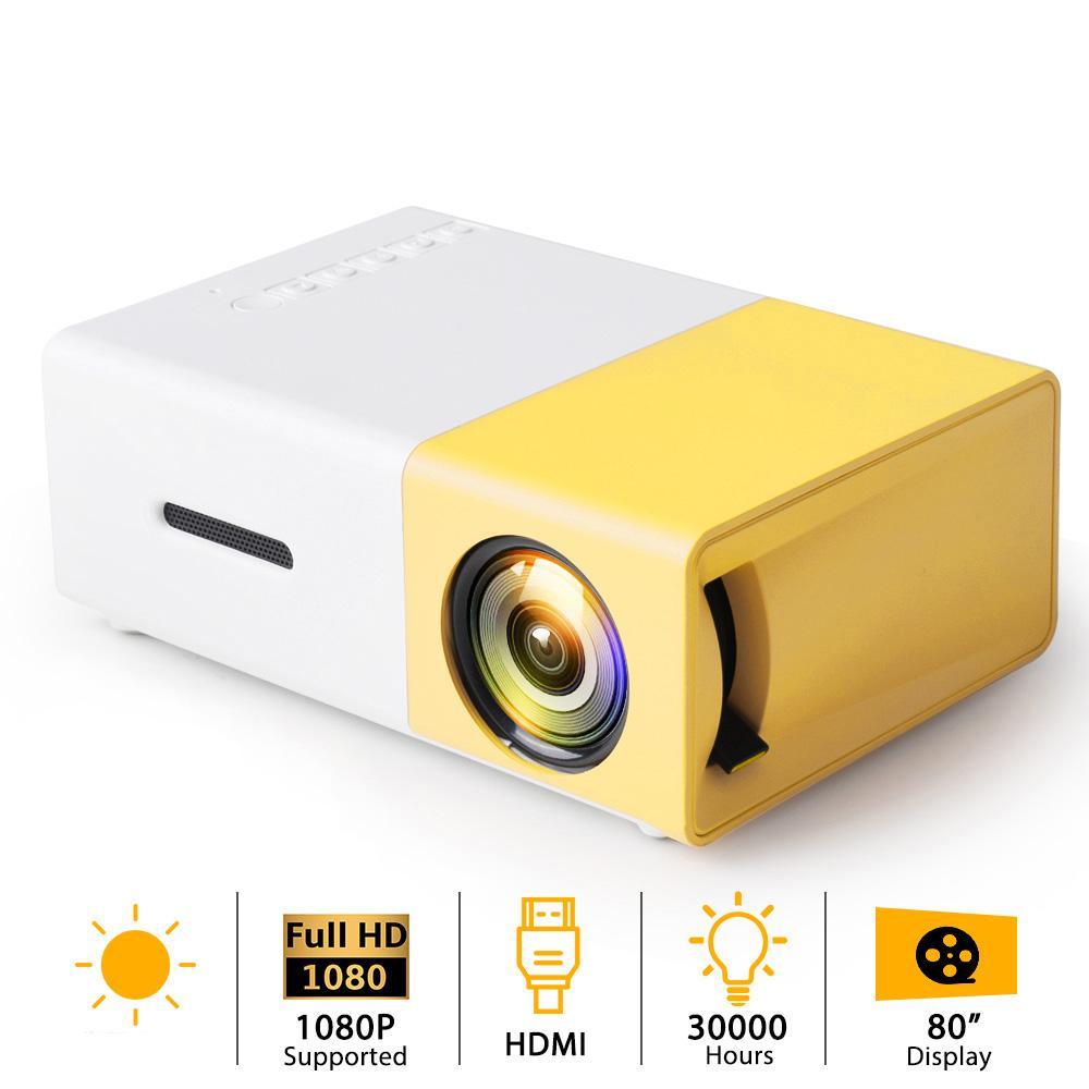 Proyector portátil USB mini proyector LED YG300 audio YG300 HDMI 3D Pico proyector Home Media Player Vídeo Proyector LCD regalo cabritos del niño