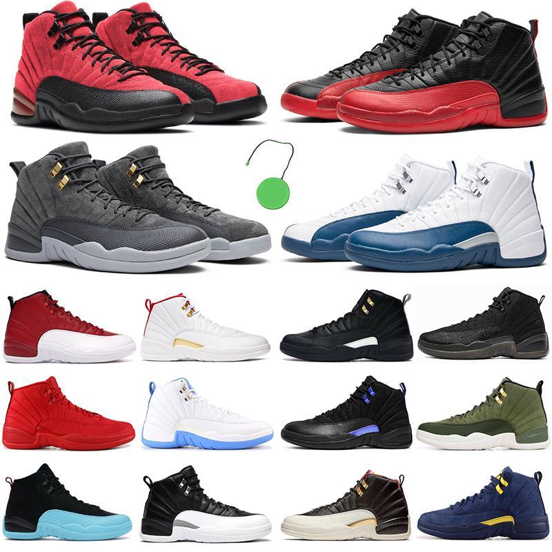 2021 NOUVEAU Hommes Basketball Chaussures Jumpman 12 Dark Concord 12s Débuscin Game Royal Red Indigo The Master Hommes Femmes Sports sportifs en plein air