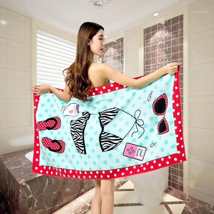 Holiday Beach Towel Microfiber Fabric Bath Towel Soft Towels Bathroom Bath Towels Shower Cotton Printed1