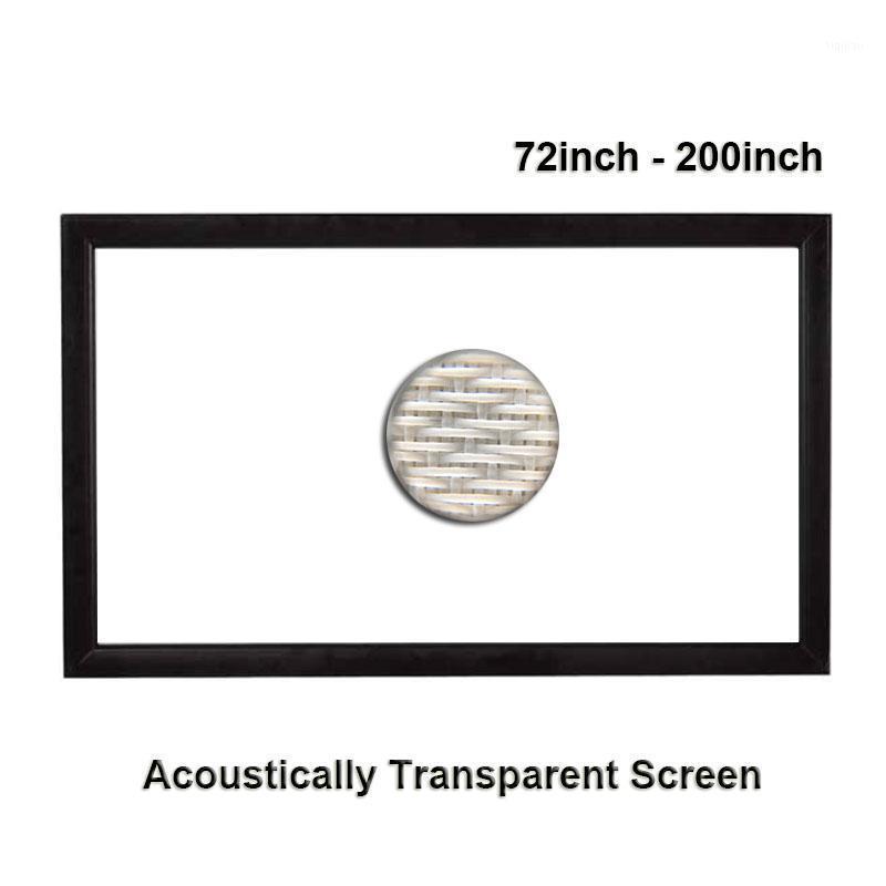 Projektionsbildschirme Sound akustische transparente Webart perforiert Aluminiumlegierung Flocking fester Rahmen1