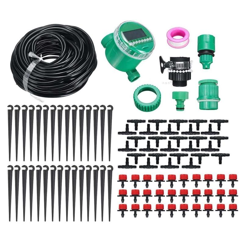 25m Drip Irrigation Kit Water Timer Waterproof Automatic Watering Electronic Garden Sprinkler Plant Agriculture Greenhouse Water T200530