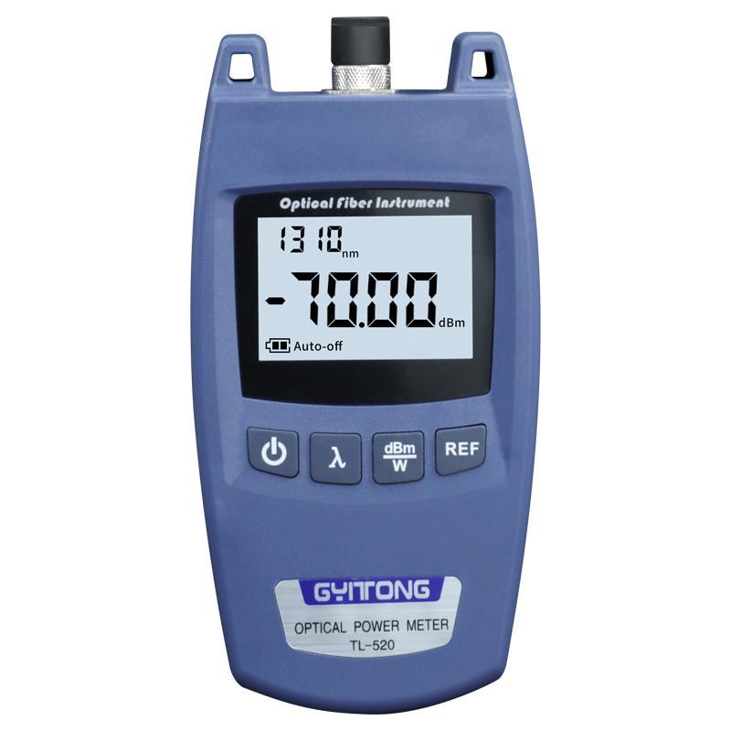 Optic Power Meter hohe Präzision Mini TL-520 Universal-Schnittstelle optisches Leistungsmesser faseroptischen Dämpfungs tester