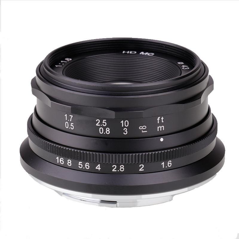 Outras câmeras CCTV 35mm Mini F1.6 APS-C Grande Lente de Abertura para NEX FX Micro4 / 3 M4 / 3 Eosm Mirroless Camera