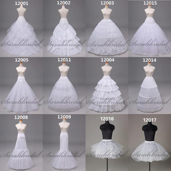 Stokta mevcut olan Mermaid Balo Uzun Kısa Gelinlik Gelin Elbiseler Petticoat Renderskirt Daha fazla ses