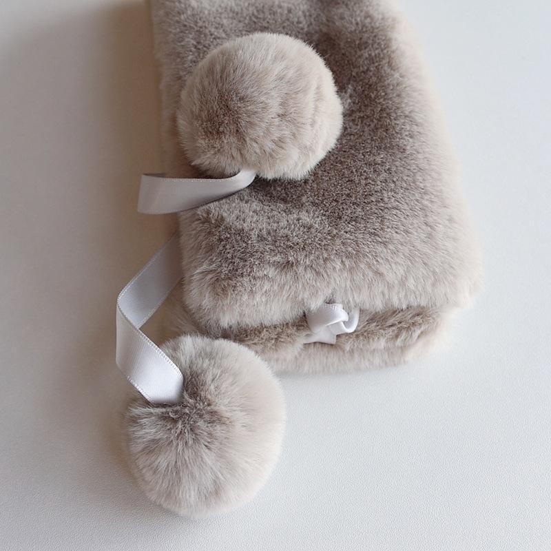 WZY8N зима прекрасный лори меха хаки зима Hanfu средний старший шарф кожаный мяч мяч балжа деформированный вязаный чистый меховой трава корейский шарф