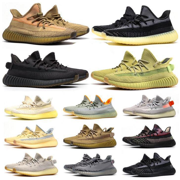 Kanye West Hombres Mujeres Running Zapatos Zebra Cinder Tail Light Reflective Abez Lino Mens Trainers Sneakers