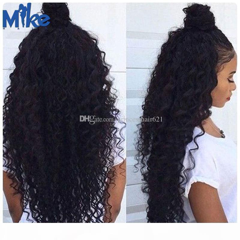 MIKEHAIR BRAILIANISCHES HAAR 4 Bündel Günstige menschliche Haare Gewebe 8-30inches Natürliche Farbe Deep Body Wave Brasilianische Remy Hair Extensions 4pcs los
