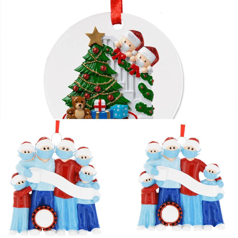 Quarantena Natale 2020 Compleanni Decorazione del partito Prodotto Personalizzato Hanging Ornament Family Xmas Decorating Kit regalo T1DB