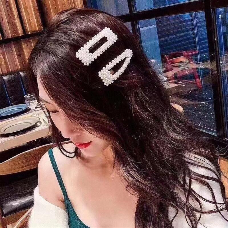 Клипы Мода Полного Pearls женщина волос Сладких корейские заколки для волос сплава Заколки Lady Girls Hairgrip аксессуары G1 kU8l #