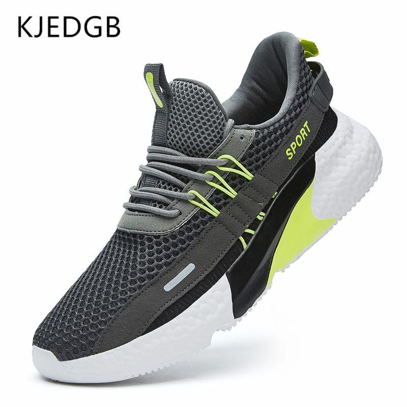 KJedGB Nuovissimi sneakers Uomo Mesh Summer Mesh Traspirante Leggero Leggero Fashion Moda Scarpe Casual Big Size LJ201130